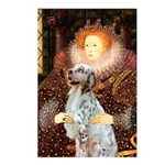 Queen / English Setter Postcards (Package of 8)