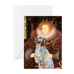 Queen / English Setter Greeting Cards (Pk of 20)