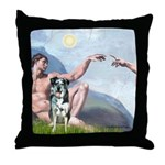 Creation / Catahoula Leopard Throw Pillow