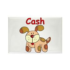 Cash Puppy Rectangle Magnet