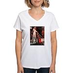 Accolade / Catahoula Leopard Women's V-Neck T-Shir