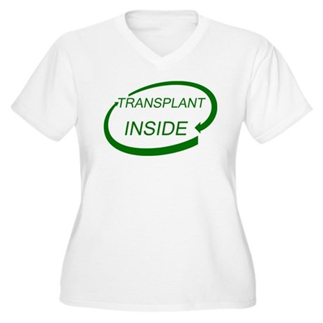 Transplant Inside Women's Plus Size V-Neck T-Shirt
