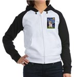 Starry Night / Cairn Terrier Women's Raglan Hoodie