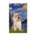 Starry Night / Cairn Terrier Sticker (Rectangle)