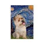 Starry Night / Cairn Terrier Rectangle Magnet