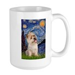Starry Night / Cairn Terrier Large Mug