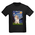 Starry Night / Cairn Terrier Kids Dark T-Shirt