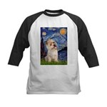 Starry Night / Cairn Terrier Kids Baseball Jersey