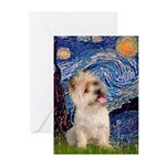 Starry Night / Cairn Terrier Greeting Cards (Pk of