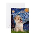 Starry Night / Cairn Terrier Greeting Card