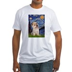 Starry Night / Cairn Terrier Fitted T-Shirt