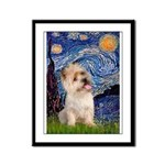 Starry Night / Cairn Terrier Framed Panel Print