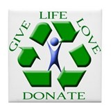 Give Life Tile Coaster