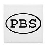 PBS Oval Tile Coaster