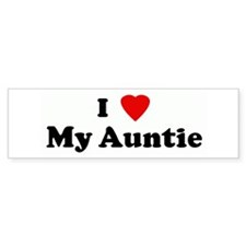 I Love My Auntie Bumper Sticker (10 pk)