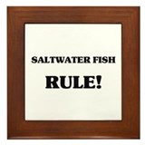 Saltwater Fish Rule Framed Tile