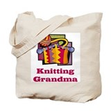 Knitting Grandma Tote Bag