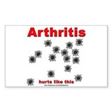Arthritis Pain Rectangle Decal