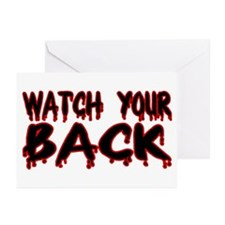 Watch Your Back Greeting Cards (Pk of 20)