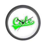 Retro Cale (Green) Wall Clock