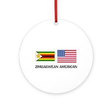 Cute Zimbabwean Ornament (Round)