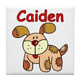 Caiden Puppy Tile Coaster
