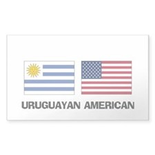 Uruguayan American Rectangle Decal
