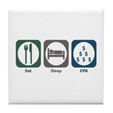Eat Sleep CPA Tile Coaster