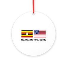 Ugandan American Ornament (Round)