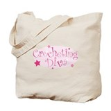 """Crocheting Diva"" [pink] Tote Bag"