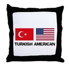 Turkish American Throw Pillow