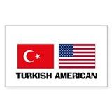 Turkish American Rectangle Decal