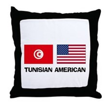 Tunisian American Throw Pillow