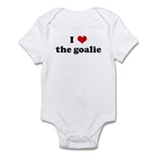 I Love the goalie Infant Bodysuit