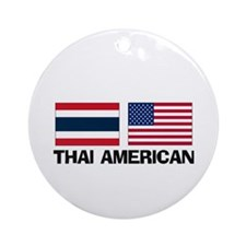 Thai American Ornament (Round)