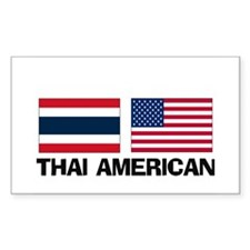 Thai American Rectangle Decal