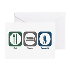 Eat Sleep Consult Greeting Cards (Pk of 10)