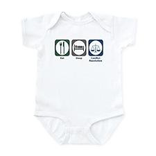 Eat Sleep Conflict Resolution Infant Bodysuit