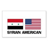 Syrian American Rectangle Decal