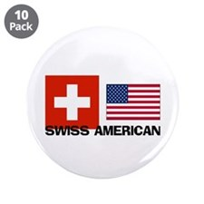 "Swiss American 3.5"" Button (10 pack)"