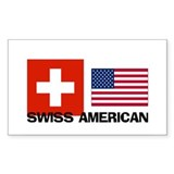 Swiss American Rectangle Decal