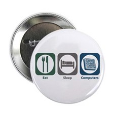 "Eat Sleep Computers 2.25"" Button (100 pack)"