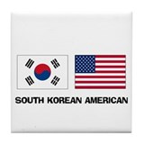South Korean American Tile Coaster