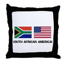 South African American Throw Pillow