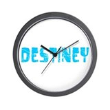 Destiney Faded (Blue) Wall Clock