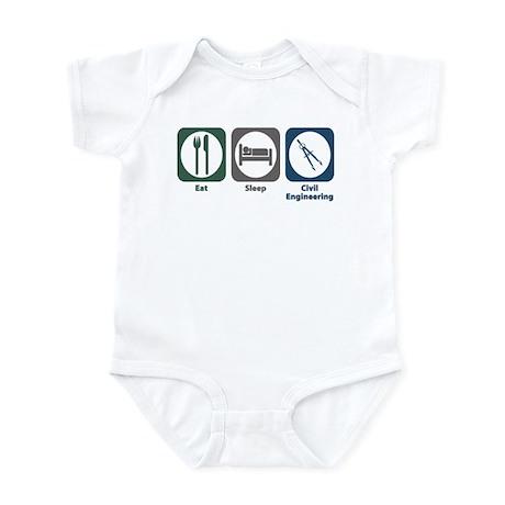 Eat Sleep Civil Engineering Infant Bodysuit
