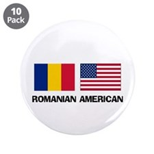 "Romanian American 3.5"" Button (10 pack)"