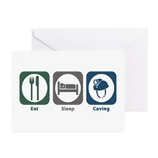 Eat Sleep Caving Greeting Cards (Pk of 20)