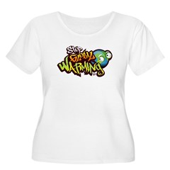 Stop Global Warming - Graffit Women's Plus Size Sc