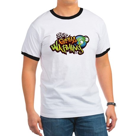 Stop Global Warming - Graffit Ringer T